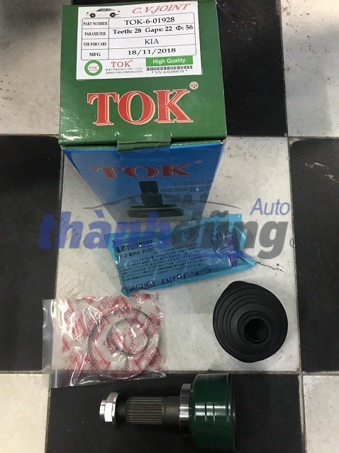 ĐẦU LÁP NGOÀI PHẢI KIA SPECTRA – TOK601928, sản xuất bởi TOK, phụ tùng chính hãng, giá tốt nhất. Thương hiệu: TOK Xuất xứ: Nhật Bản